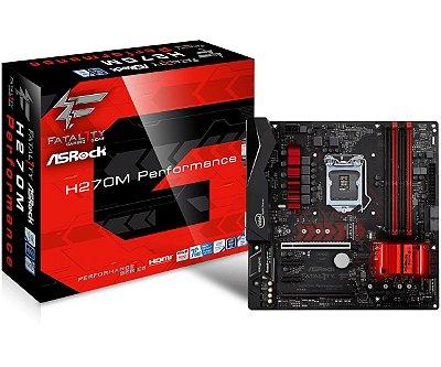 Placa-Mãe ASRock Intel LGA 1151 ATX H270M Fatal1ty Performance 4xDDR4