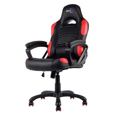Cadeira Gamer Aerocool AC80C Preta/Vermelha EN55048