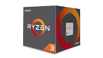 Processador AMD Ryzen 3 1200 c/ Wraith Cooler, Quad Core, Cache 10MB, 3.1GHz (3.4GHz Max Turbo) AM4 - YD1200BBAEBOX