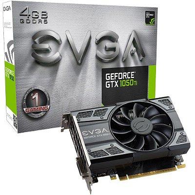 Placa de Vídeo NVIDIA EVGA GEFORCE GTX 1050 TI Gaming 4GB DDR5 04G-P4-6251-KR