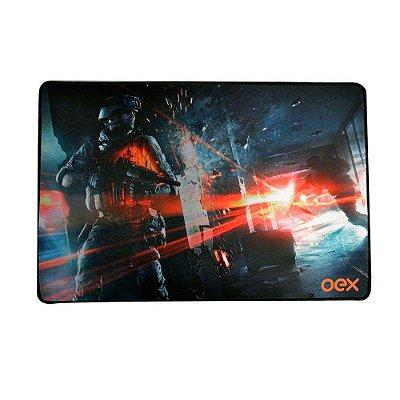 Mousepad Gamer Oex Battle AntiSkid 50x33cm Grande MP301