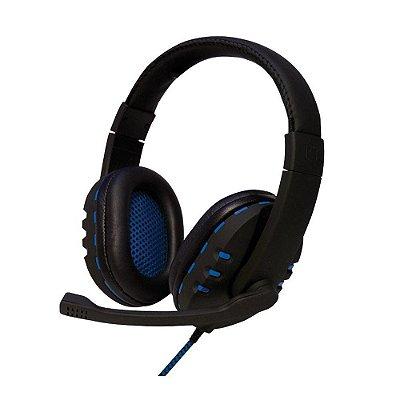 Headset Gamer Oex USB Preto/Azul - HS206