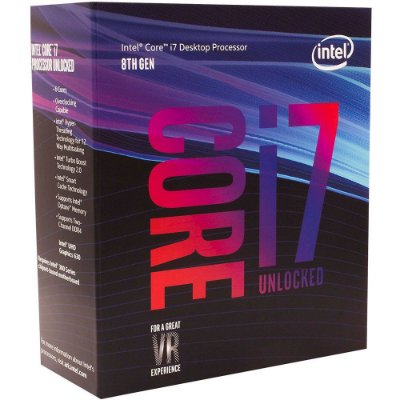 Processador Intel i7-8700k Coffee Lake 8a Geração, Cache 12MB, 3.7GHz (4.7GHz Max Turbo), LGA 1151 Intel UHD Graphics 630 - BX80648I78700K