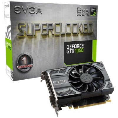 Placa de Vídeo NVIDIA EVGA GEFORCE GTX 1050 2GB SC ACX DDR5 02G-P4-6152-KR