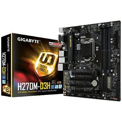 Placa-Mãe GIGABYTE Intel LGA 1151 mATX GA-H270M-D3H DDR4