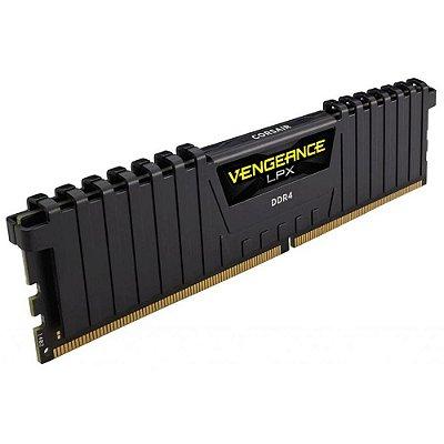 Memória Corsair Vengeance LPX 4GB 2400Mhz DDR4 CL14 Preto - CMK4GX4M1A2400C14