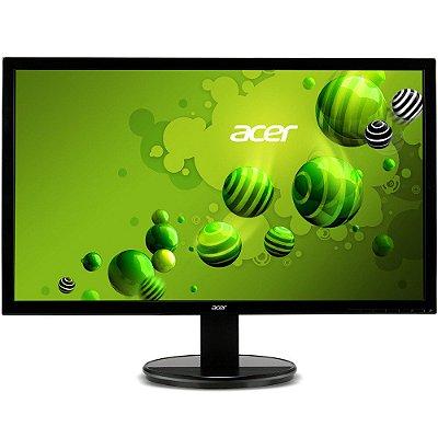 Monitor Acer 21,5´ Full HD 5ms VGA/DVI Ajuste de Inclinação de -5 a 25 Graus VESA K222HQL