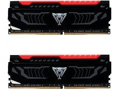 Memória Patriot Viper LED Vermelho 16GB (2x 8GB) 2400MHz DDR4 - PVLR416G240C4K