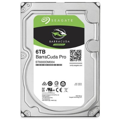 HD Seagate SATA 3,5´ BarraCuda PRO 6TB 7200RPM 256MB Cache SATA 6.0Gb/s - ST6000DM004