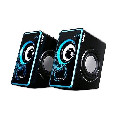 Caixa De Som Gamer Marvo Scorpion SG-201 BL 3.5W X 2 Bk/Blue