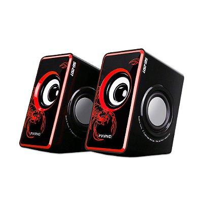 Caixa De Som Gamer Marvo Scorpion SG-201 RD 3.5W X 2 Bk/Red