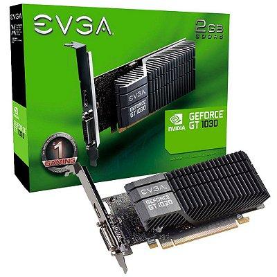 Placa de Vídeo NVIDIA EVGA GEFORCE GT 1030 SC 2GB 64 Bit GDDR5 02G-P4-6332-KR