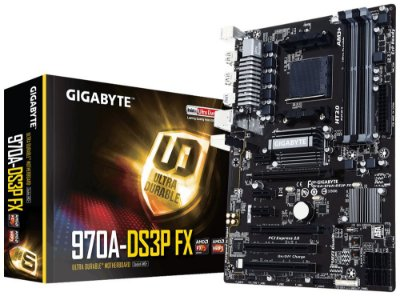 Placa-Mãe GIGABYTE p/ AMD AM3+ ATX GA-970A-DS3P, CrossFireX, DDR3, SATA 6Gb/s, USB 3.0