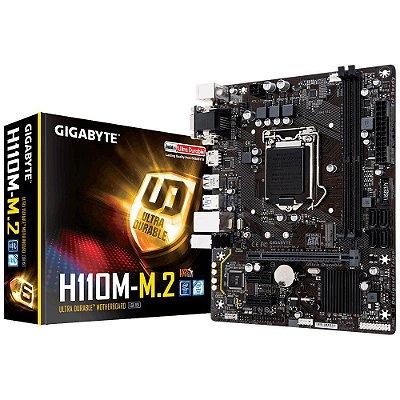Placa-Mãe GIGABYTE Intel LGA 1151 mATX GA-H110M-M.2 DDR4