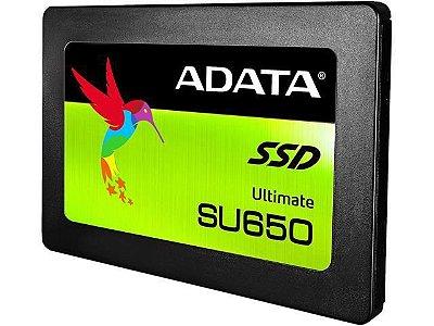 SSD ADATA SU650 120GB ASU650SS-120GT-C SATA 6GB/S 2.5 POL LEITURA 520MBS GRAVAÇÃO 450MBS