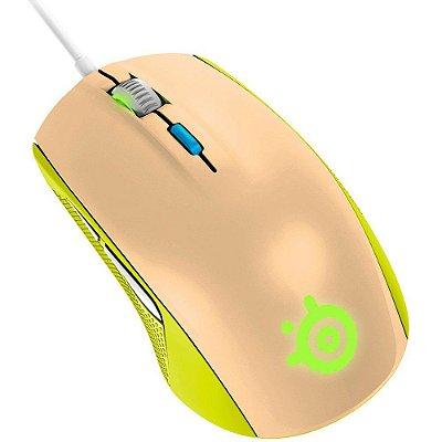 Mouse Gamer Steelseries Rival 100 Óptico, 2000cpi, Gaia Verde - 62339