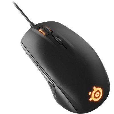 Mouse Gamer Steelseries Óptico Rival 100 Preto - 62341