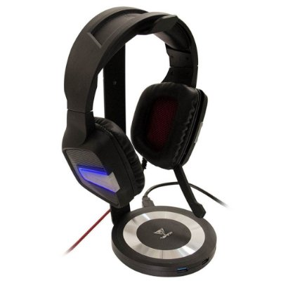 Suporte Para Headset Patriot Viper C/ Audio e USB, PVUSB33HSS