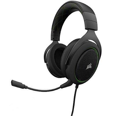 Headset Gamer Corsair HS50 Green - CA-9011171-NA