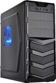 Gabinete Newdrive Q2S USB/Audio/200W 2*Sata Black PN # Q2S ( 2 BAIAS / SEM VENTILADOR )