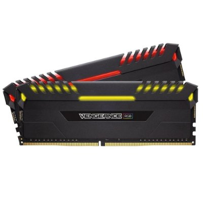 Memória Corsair Vengeance LED RGB 16GB (2x8GB) 3000Mhz DDR4 CL16 Black - CMR16GX4M2C3000C16