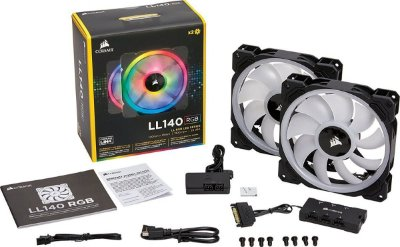 Ventilador Corsair LL140 RGB Dual Light Loop RGB 2 x 140mm
