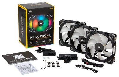 Ventilador Corsair ML120 PRO RGB 3 x 120mm