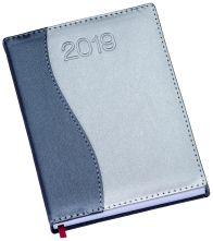 LG151 Agenda Diária capa de couro sintético detalhe ''S'' em azul marinho