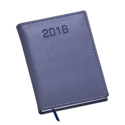 LG211 Agenda Compacta capa em couro sintetico azul royal