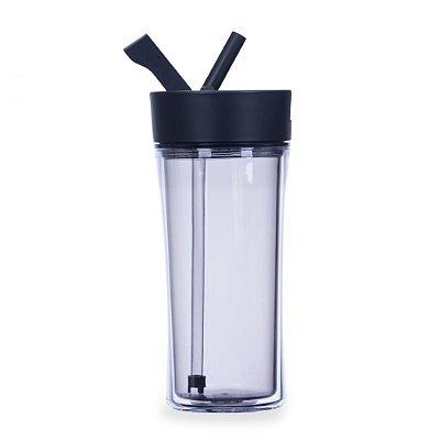 copo plastico com tampa e canudo