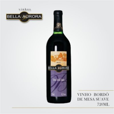 VINHO TINTO SUAVE BORDÔ 720ML - BELLA AURORA
