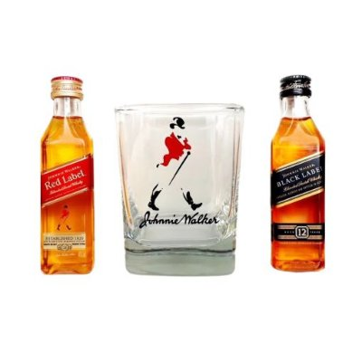Kit Johnnie Walker Black e Red + Copo