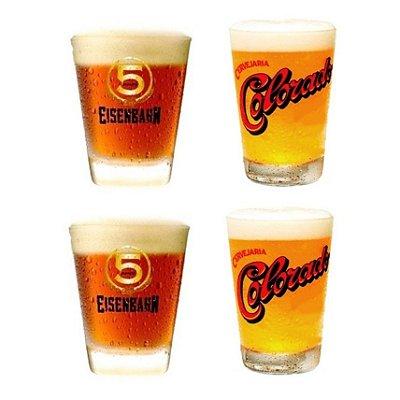 Copo Cerveja Eisenbahn e Colorado Kit 4 Unidades