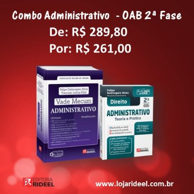 Banner Combo Administrativo OAB 2ª fase