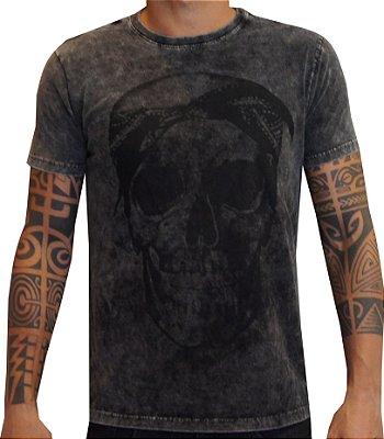 T-shirt marmorizada skull 2PAC