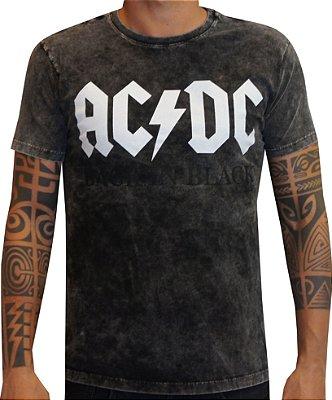 T-shirt Ac Dc marmorizada