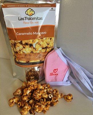 Kit 1 Pipoca Caramelo + 2 Masc. Infantis