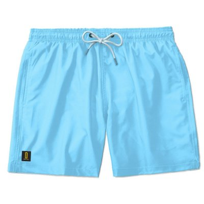 Short Masculino Azul Neon Bermuda Praia Ajustável Mauricinho Jr
