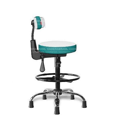 Mocho Alto Ergonômico Estética, Fisioterapia, Odontologia Colors CB 1654 Cadeira Brasil