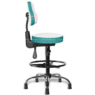 Mocho Alto Ergonômico Estética, Fisioterapia, Odontologia Colors CB 1674 Cadeira Brasil