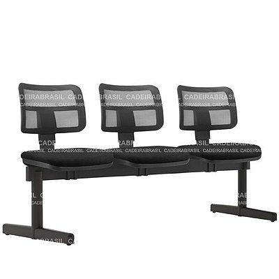 Longarina 3 Lugares Executiva Vezzi VEE14 Cadeira Brasil