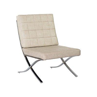 Poltrona Design Barsa Metal Cromado Cadeira Brasil