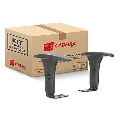 Kit com 5 Pares de Braços Regulável Corporativo BR030K Cadeira Brasil