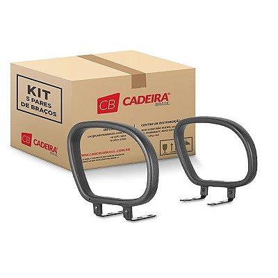 Kit com 5 Pares de Braços Corsa Fixo BR002K Cadeira Brasil