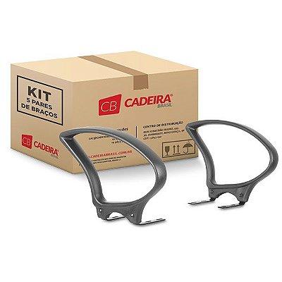 Kit com 5 Pares de Braços Fixo BR010K Cadeira Brasil