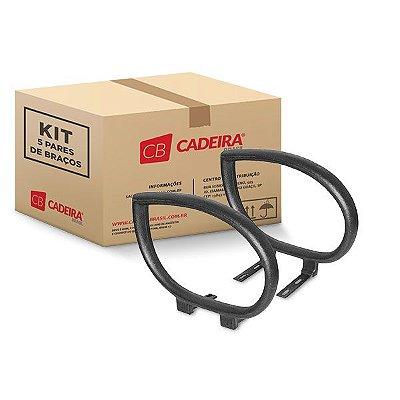 Kit com 5 Pares de Braços Gota Fixo BR006K Cadeira Brasil