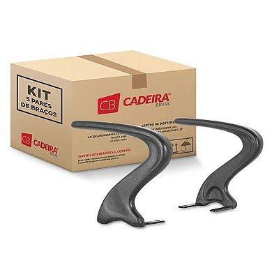 Kit com 5 Pares de Braços Curvo S Fixo BR015K Cadeira Brasil