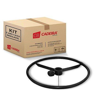 Kit com 5 Aro Caixa Regulável Preto A012K Cadeira Brasil