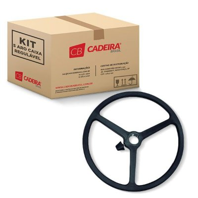 Kit com 5 Aro Caixa Regulável Nylon Preto A212 Cadeira Brasil