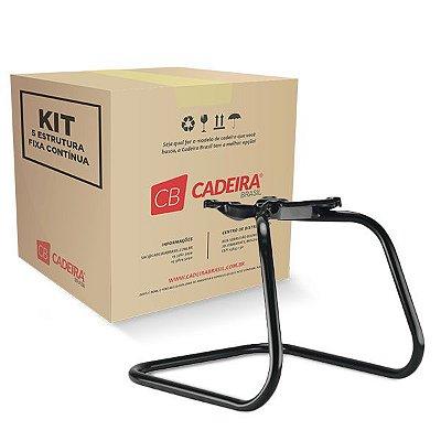 Kit com 5 Estrutura Fixa Continua Diretor ES001K Cadeira Brasil